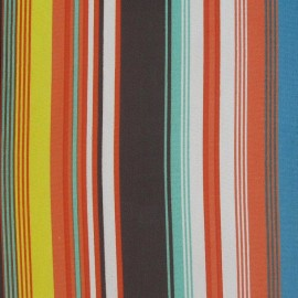 Stripe multi B Muslin Fabric x 50 cm