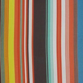 Tissu mousseline rayure multi B x 50 cm