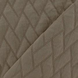 ♥ Coupon tissu 60 cm X 150 cm ♥ viscose matelassée chevron beige