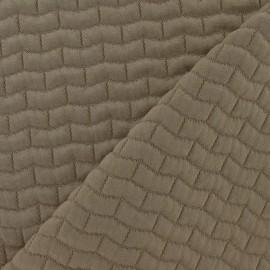 Tissu viscose matelassée brique beige x 10cm