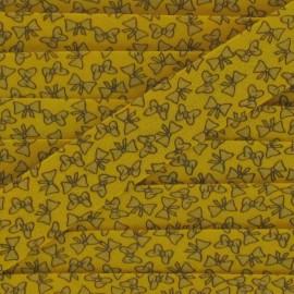 Knots Bias binding - Yellow