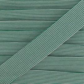 Biais coton rayures horizontales vert