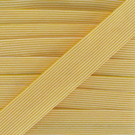Cotton bias binding, horizontal stripes - yellow