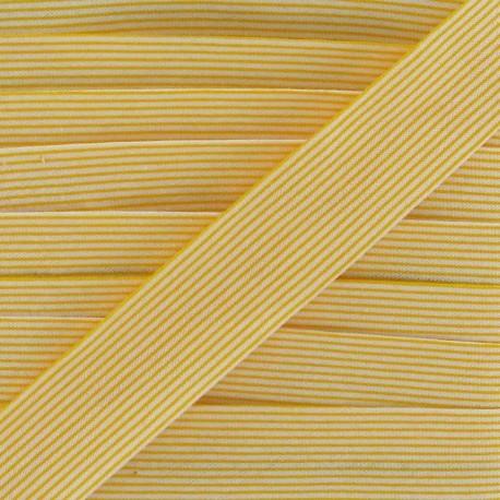 Biais coton rayures horizontales jaune