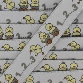 Jacquard Ribbon baby chicks - grey