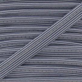 Passepoil rayures horizontales bleu