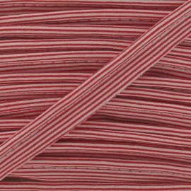 Passepoil rayures horizontales rouge
