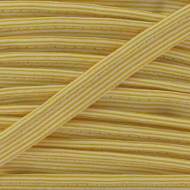 Passepoil rayures horizontales jaune