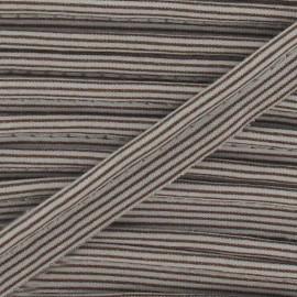 Passepoil rayures horizontales marron