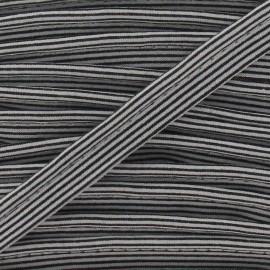 Passepoil rayures horizontales noir