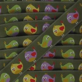 Jacquard Ribbon chicks - khaki