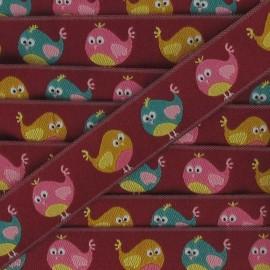 Jacquard Ribbon chicks - burgundy