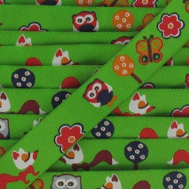 Jacquard Ribbon foxes - green