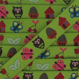 Jacquard Ribbon butterfly - green