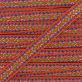 Small Jacquard Ribbon, Incas - Orange