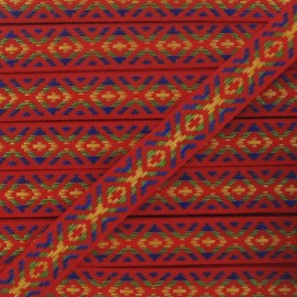 Small Jacquard Ribbon, Incas - Red