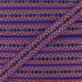 Ruban Jacquard Incas Petit violet