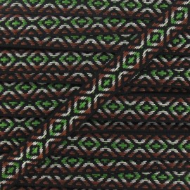 Small Jacquard Ribbon, Incas - Brown