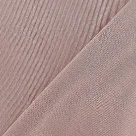 Tissu Maille lurex vieux rose x 10cm