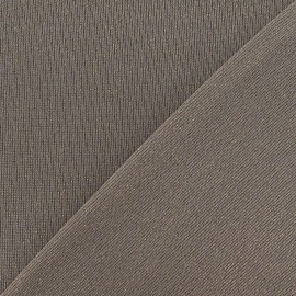 Tissu Maille lurex brun x 10cm