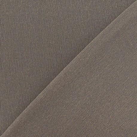 Lurex Stitch Fabric - Light Brown x 10cm