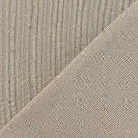 Tissu Maille lurex beige clair x 10cm