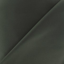 Satiny Lycra Gabardine Fabric - military Green x 10cm