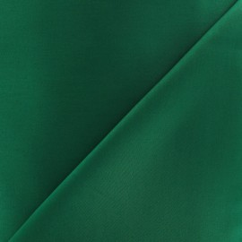 Satiny Lycra Gabardine Fabric - Bottle Green x 10cm