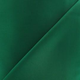 Tissu Gabardine Lycra satiné vert bouteille x 10cm