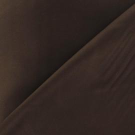 Tissu Gabardine Lycra satiné marron x 10cm