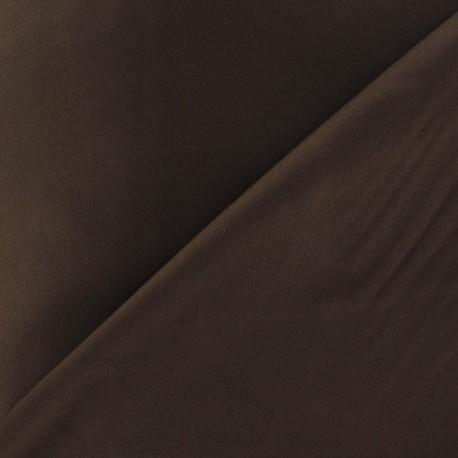 Satiny Lycra Gabardine Fabric - Brown x 10cm
