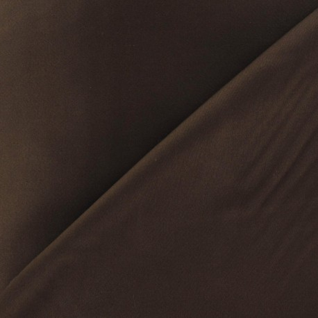 Tissu Gabardine Lycra marron x 10cm