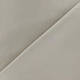 Tissu Gabardine Lycra satiné grège x 10cm