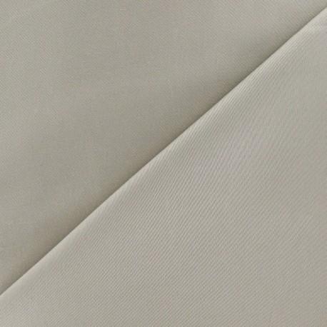 Tissu Gabardine Lycra grège x 10cm