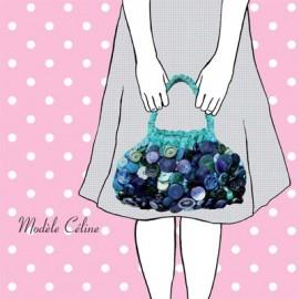"""""""Céline"""" bag sewing pattern, Mlle Kou by Céline Dupuy - multicolored"""