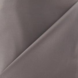 Tissu Gabardine Lycra gris tourterelle x 10cm
