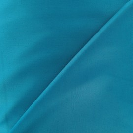 Tissu Gabardine Lycra satiné bleu bondi x 10cm