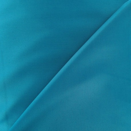 Tissu Gabardine Lycra bleu bondi x 10cm