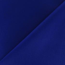 Tissu Gabardine Lycra satiné bleu roy x 10cm