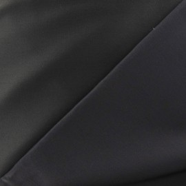 Satiny Lycra Gabardine Fabric - Anthracite Grey x 10cm