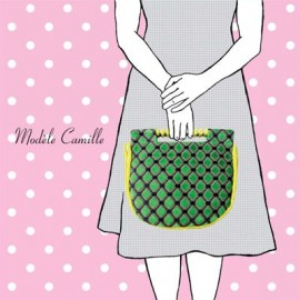"""Camille"" bag sewing pattern, Mlle Kou by Céline Dupuy - multicolored"