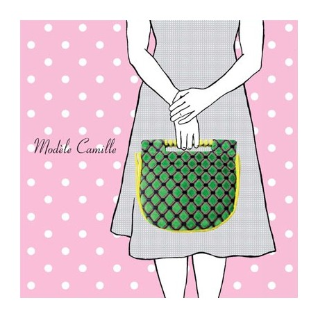 Camille bag sewing pattern, Mlle Kou by Céline Dupuy - multicolored