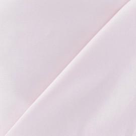 Tissu Gabardine Lycra satiné rose dragée x 10cm