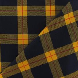 Scottish tartan Fabric - Yellow / Navy / Red x10 cm