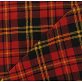 Tissu tartan écossais rouge/jaune/noir x10cm