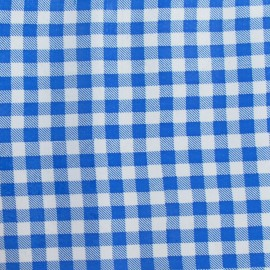 Oilcloth Fabric - petit vichy blue x 10cm