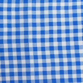Tissu toile cirée petit vichy bleu x 10cm