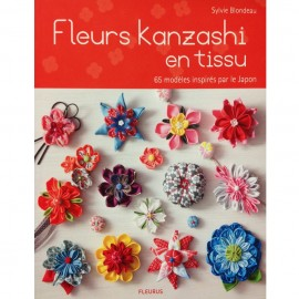 "Livre ""Fleurs Kanzashi en tissu"""