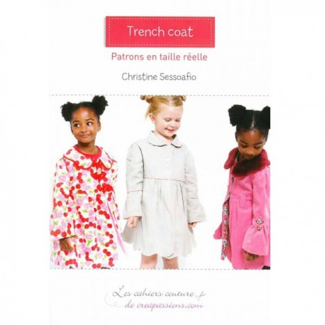 Trench Coat sewing pattern from Créapassions - multicolored