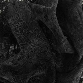 ♥ Coupon 90 cm X 130 cm ♥ Tissu Dentelle Annabelle noire